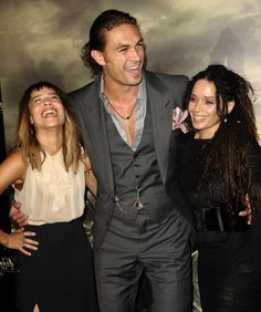 Pin for Later: 28 Pictures That Prove Zoë Kravitz Had No Choice but to Be Ridiculously Good Looking  Zoë shared an adorable moment with her mom and stepdad at the premiere of Conan the Barbarian in LA back in August 2011.