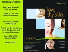 Ad Design Examples - Avanti Skin Center Image Marketing Pros 615-200-7717 Nashville 865-291-0373 Knoxville