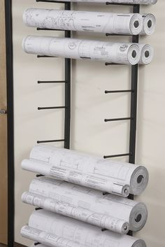 Vis-i-Rack for large rolled documents such as blueprints, plans and architectural drawings.