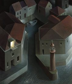 Michiel Schrijver, 1957 | Surreal architecture painter | Tutt'Art@ | Pittura * Scultura * Poesia * Musica |