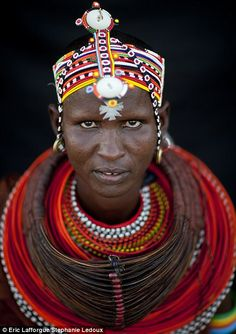 Incredible: This woman is a member of the Rendille tribe who live in the Kaisut Desert