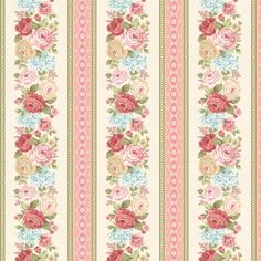 Peaceful Garden Striped Fabric Henry Glass-8697 by DivinesFabricNook on Etsy
