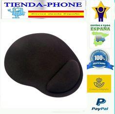 Alfombrilla para raton ergonomica mousepad con apoyo de Gel reposamuñecas Negro