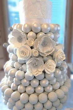 White Cake Ball Cake #WeddingCake repinned by wedding accessories and gifts specialists http://destinationweddingboutique.com