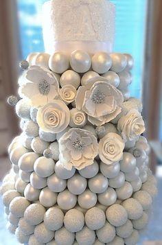 White Cake Ball Cake