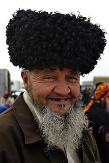 turkmen elder and telpek