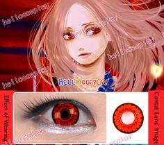 Red Eyes Cosplay Contact Lense