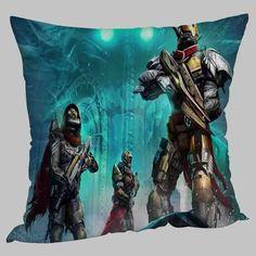 destiny fan art hunter titan warlock video game pillow case 20 x 20 two sides
