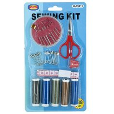 Kole Imports Sewing Kit with Scissors & Measuring Tape, Multicolor - I Crochet World Crochet World, Knit Crochet, Knitting Kits For Beginners, Baby Kit, Kits For Kids, Sewing Kit, Tape Measure, Scissors, Christmas Stockings