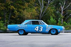 "1964 Plymouth Richard Petty won the Daytona 500 with his in 64.  Imagine going around the track at 160mph in this nearly ""stock"" car."