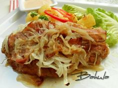 Cabbage, Recipies, Spaghetti, Good Food, Pork, Food And Drink, Meat, Vegetables, Ethnic Recipes