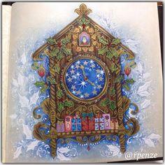 As Cores do Natal - Johanna Basford - Editora Sextante - fundo executado com Pan Pastel de lá da @casadaloise #editorasextante  #johannabasford #rpenze #ascoresdonatal