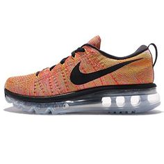 best loved 19c26 701b0 nike flyknit air max womens running trainers 620659 sneakers shoes US 8  aluminium black hot punch