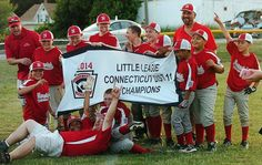 Norwich celebrates District 11 title - The Norwich 10-11 Little League baseball team held off a relentless Jewett City squad in a back-and-forth tilt, 11-9, on Tuesday to capture the District 11 championship. Read more: http://www.norwichbulletin.com/article/20140701/SPORTS/140709930 #CT #Norwich #Connecticut #Youth #Sports #LittleLeague #Champions