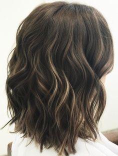 length Medium Wavy Brunette Hairstyle