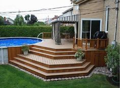 simple deck designs pictures simple deck designs for above ground pools backyard design ideas photo of fine patio pictures homes deck designs backyard deck patio ideas pictures Patio Plan, Pool Deck Plans, Deck Patio, Patio Ideas, Diy Deck, Pool Ideas, Budget Patio, Small Pergola, Outdoor Pergola