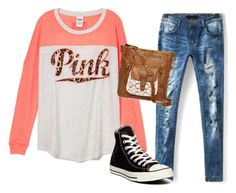 """READ DESCRIPTION RIGHT NOW HURRY"" by shocker44 ❤ liked on Polyvore featuring Converse, T-shirt & Jeans and sashtonfanfic"