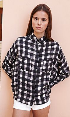 Black Check Shirt by Plumo