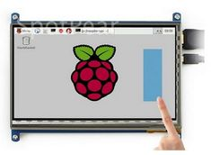 Stutu 7 inch Capacitive Touch Screen for Raspberry pi 2 and pi 3 Rasberry Pi, Raspberry, Monitor For Photo Editing, Monitor Lizard, Mac Mini, Computer Accessories, Photo Booth, Coloring Books, Cool Things To Buy