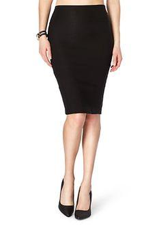 image of Black Midi Pencil Skirt
