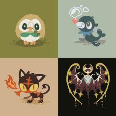 Pixiv Id 1220815, Pokémon, Popplio, Litten, Rowlet, No People
