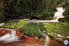 Cascadas de La Lindosa, quebrada que tributa al río Suaza, Huila, #Colombia #SomosTurismo