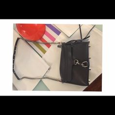 Rebecca Minkoff mini Mac bag Brand new gray Mini Mac bag. Comes with dust bag and extra leather tassels. Used once. Rebecca Minkoff Bags Crossbody Bags