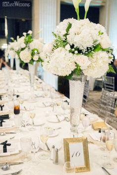 Classic Elegance Wedding Theme, White Wedding Centrepieces, Timeless Wedding Ideas | ElegantWedding.ca
