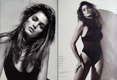 Cindy Crawford 90s Models, Female Models, Women Models, Cindy Crowford, Original Supermodels, Fashion Mag, Vintage Swimsuits, Black And White Portraits, Photoshoot Inspiration