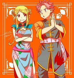 Natsu et Lucy en kimono traditionnel japonais ☺