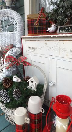 Ash Tree Cottage ~ More Christmas on the porch