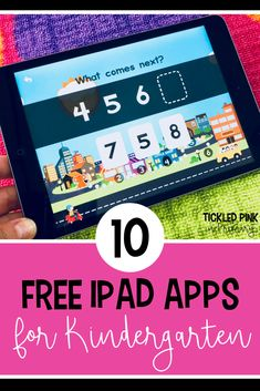Find 10 free kindergarten ipad apps for reading and math. This list includes apps that can be great independent practice or for centers. Check out these 10 free kindergarten ipad apps for reading and math. Free Math Apps, Free Learning Apps, Best Free Apps, Educational Apps For Kids, Free Phonics Games, Kindergarten Apps, Beginning Of Kindergarten, Preschool Classroom, Sight Words