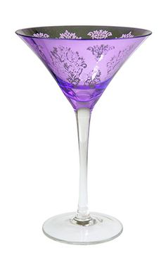 Platinum Purple Martini Glass from The Purple Store! Purple Stuff, Purple Love, Purple Lilac, Purple Glass, All Things Purple, Shades Of Purple, Deep Purple, Purple Kitchen, Painted Wine Glasses