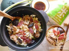 北菇臘腸雞肉煲仔飯