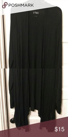Black long jacket Black long jacket  can wear with just about anything LC Lauren Conrad Jackets & Coats Capes