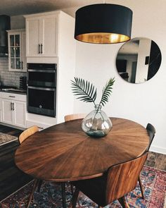 Extendable mid-century dining table - walnut Mid Century Modern Acorn Wood dining table Conan oval dining table in 2020 Dining Room Table Decor, Walnut Dining Table, Dining Room Design, Oval Table, Oval Kitchen Table, Small Rectangle Kitchen Table, Rug In Dining Room, Round Dining Room Tables, Side Tables