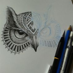 Owl design for a tattoo, wip by Daviddleonluis on DeviantArt
