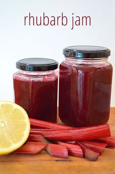 rhubarb jam recipe