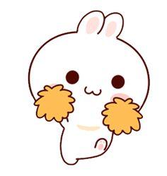 LINE Creators' Stickers - Happy bunny Sunny 2 Example with GIF Animation Cute Couple Cartoon, Cute Love Cartoons, Cute Cartoon Characters, Cute Bear Drawings, Cute Kawaii Drawings, Cute Puns, Cute Memes, Cute Love Gif, Cute Cat Gif