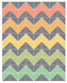 Chevron Quilt? | Chevron quilt, Triangles and Craft : chevron quilt pattern free - Adamdwight.com