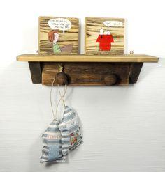 Driftwood Shelf Reclaimed Wood Shelf Coat Hanger £20.00