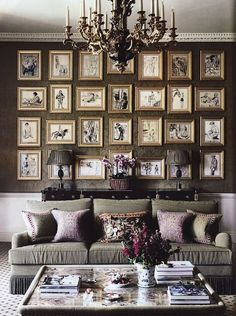 gallery wall and subtle color throughout..