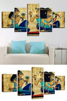 Style: Modern  Material: Canvas  Type: Canvas Printing  Shape: Irregular  Frame: With Frame Wall Canvas, Canvas Prints, Art Prints, Wall Art, Frame Sizes, Modern Materials, Framed Artwork, Egyptian, Printing