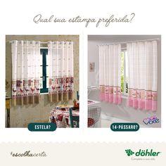 A escolha perfeita para a sua cozinha: estampas rústicas ou delicadas? Você escolhe!  #cortinas