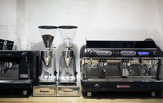 Coffee grinders and machines