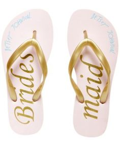 Blue by Betsey Johnson Amy Bridal Flip-Flops   | macys.com
