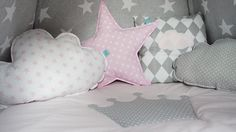 Teepee set Dusty Pink Sky by MamaPotrafi on Etsy