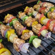 Chili-Lime Chicken Kabobs - Allrecipes.com. I did not use the red wine vinegar. I used a splash of soy sauce, and splash of sweet chili sauce. YUM!!!!
