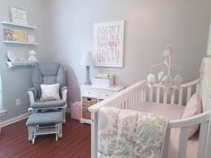 "- Carousel Designs (@carouseldesigns) on Instagram: ""#BabyGirlNursery sweetness, featuring our Pink and Gray Rosa collection. Thanks for the tag,…"""