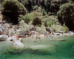 Swimming holes like this one in Sacramento Valley have us California dreaming.